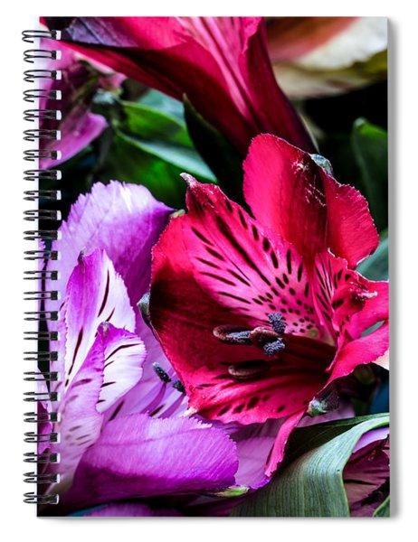 A Bouquet Of Peruvian Lilies Spiral Notebook