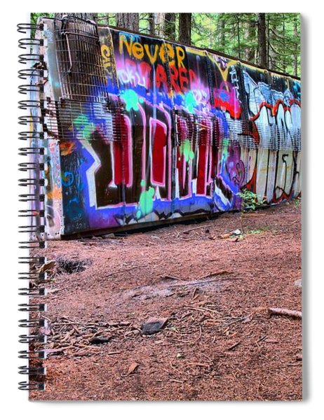 A Box Car In The Forest Spiral Notebook