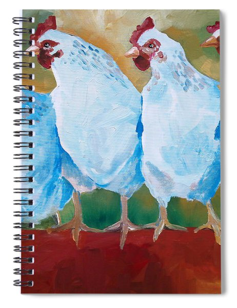 A Bunch Of Old Clucking Hens Spiral Notebook