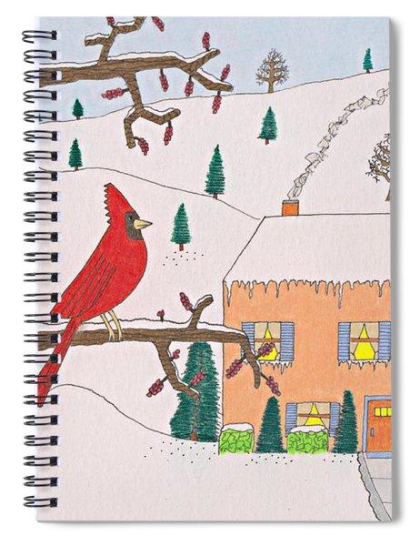 A Cardinal Christmas Spiral Notebook
