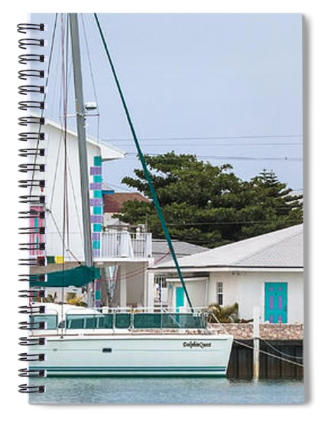 Spiral Notebook featuring the photograph A Cat In Bailey Town by Ed Gleichman