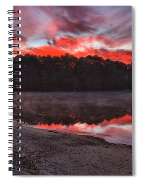 A Christmas Eve Sunrise Spiral Notebook