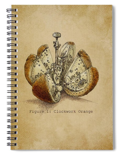 Steampunk Orange - Option Spiral Notebook