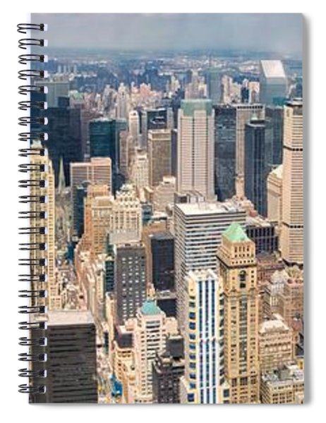 A Cloudy Day In New York City   Spiral Notebook