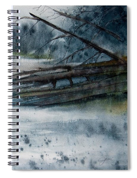 A Cold And Foggy View Spiral Notebook