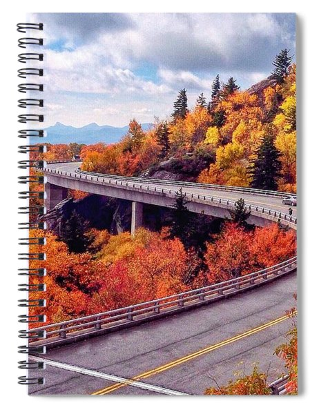 A Colorful Ride Along The Blue Ridge Parkway Spiral Notebook