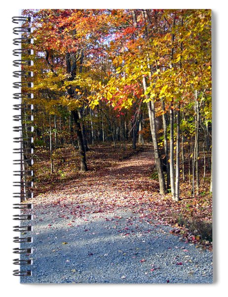 A Courtry Lane In Autumn Spiral Notebook