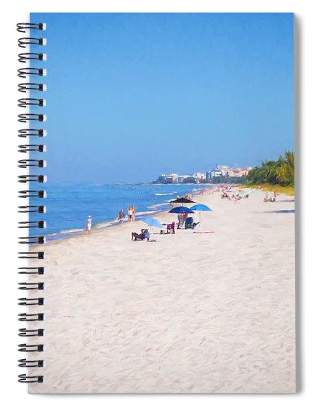 A Day At Naples Beach Spiral Notebook