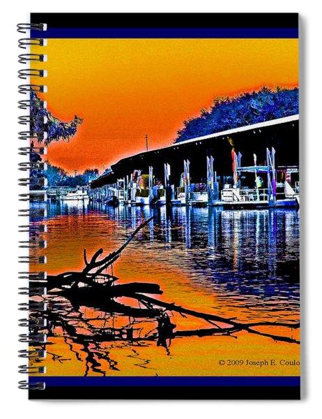 A Delta Sunset  Spiral Notebook