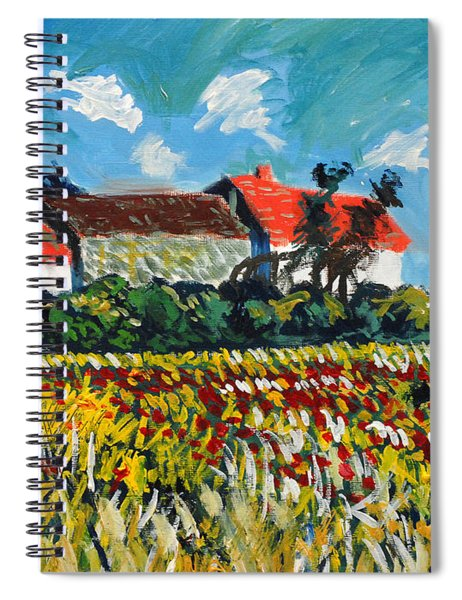 A Field In France Spiral Notebook