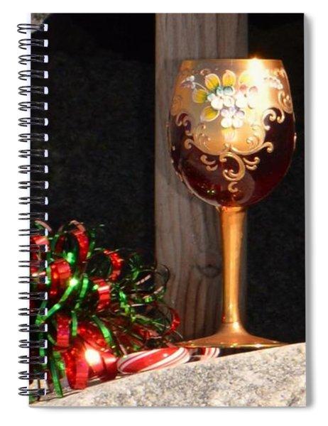 A Fine Beach Christmas Spiral Notebook