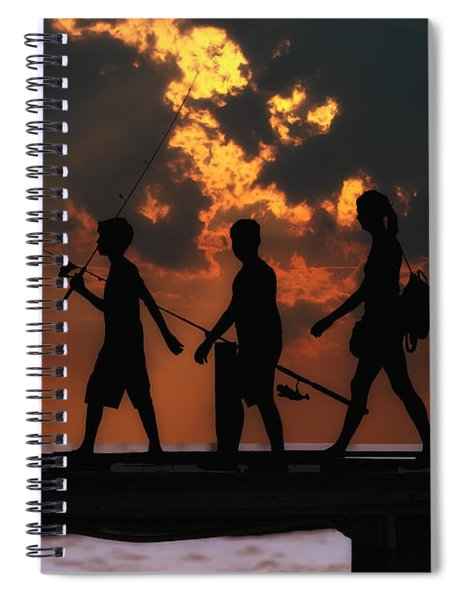 A Fishing We Will Go Spiral Notebook