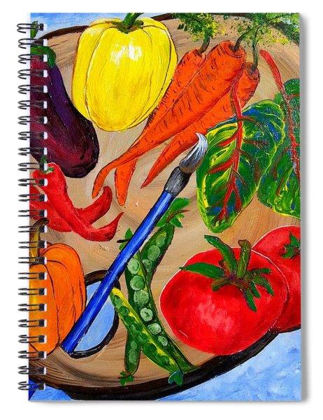 A Gardeners Palette Spiral Notebook