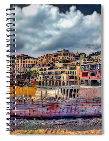 A Genesis Sunrise Over The Old City Spiral Notebook