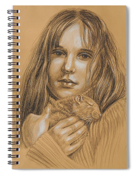 A Girl With The Pet Spiral Notebook