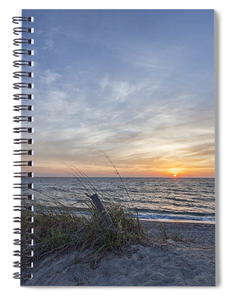 A Glass Of Sunrise Spiral Notebook