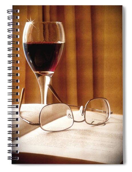 A Good Book And A Glass Of Wine Spiral Notebook