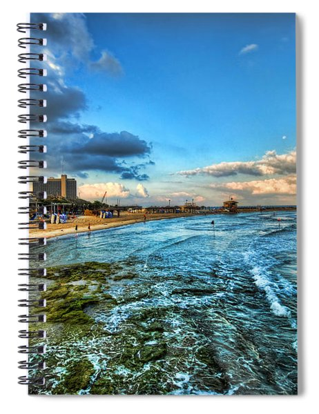 a good morning from Hilton's beach Spiral Notebook