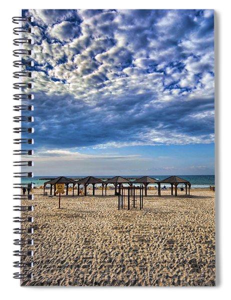 a good morning from Jerusalem beach  Spiral Notebook