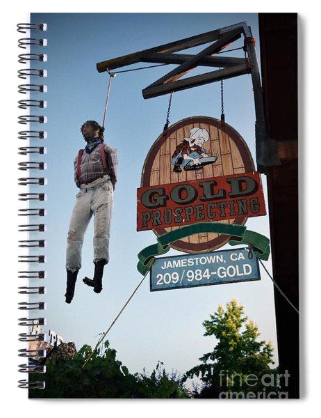 A Hanged Man In Jamestown Spiral Notebook