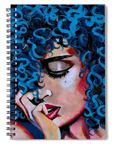 A Happy Woman Is A Satisfied Woman Spiral Notebook