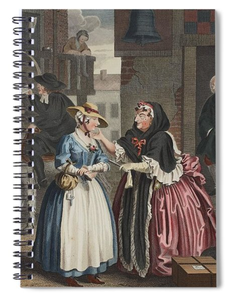 A Harlots Progress, Plate I Spiral Notebook