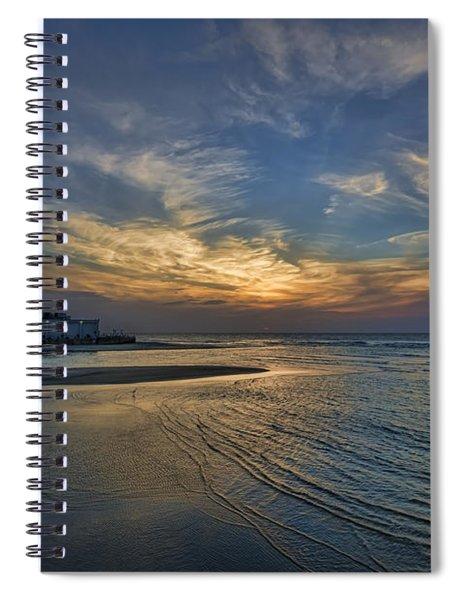 a joyful sunset at Tel Aviv port Spiral Notebook