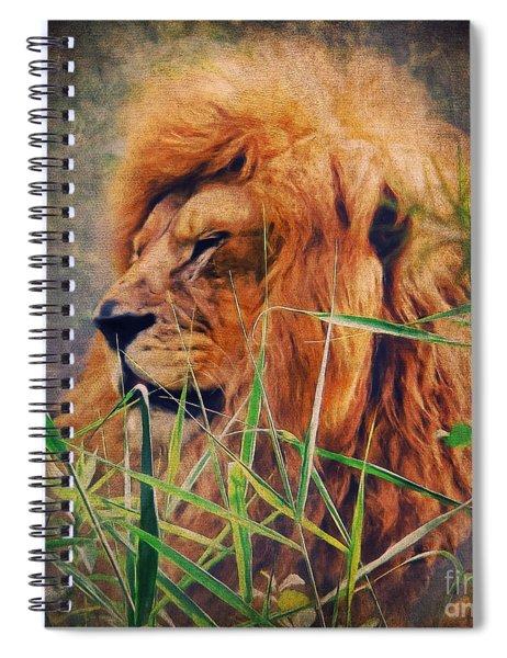 A Lion Portrait Spiral Notebook