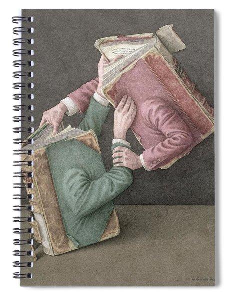A Literary Struggle Spiral Notebook