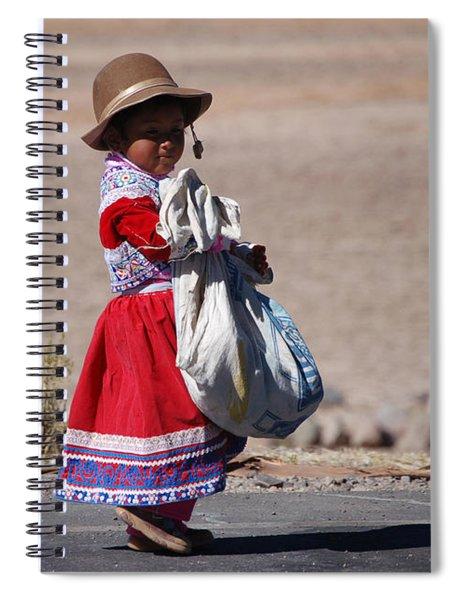 A Little Girl In The  High Plain Spiral Notebook