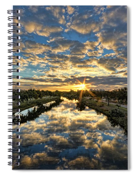 A Magical Marshmallow Sunrise  Spiral Notebook