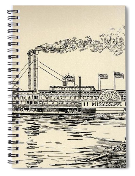 A Mississippi Steamer Off St Louis From American Notes By Charles Dickens  Spiral Notebook