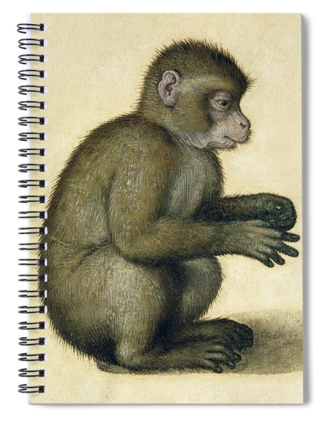 A Monkey Spiral Notebook