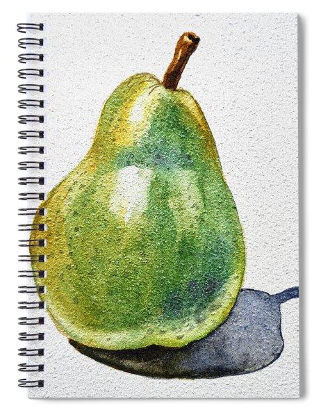 A Pear Spiral Notebook