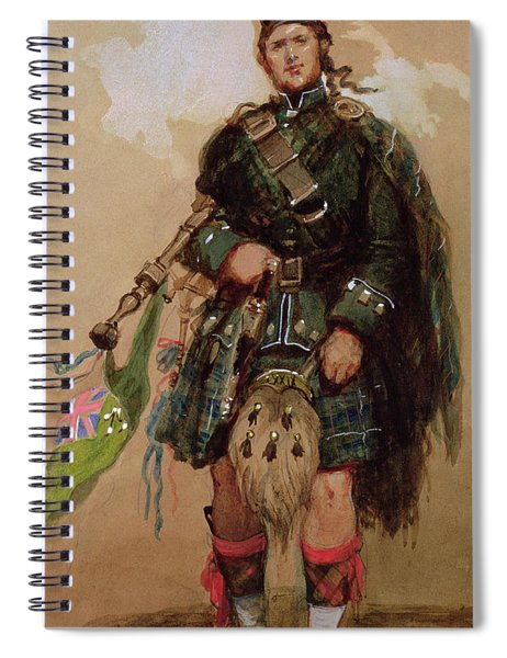 A Piper Of The 79th Highlanders At Chobham Camp Spiral Notebook