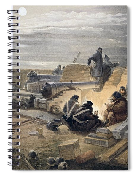 A Quiet Night In The Batteries, Plate Spiral Notebook