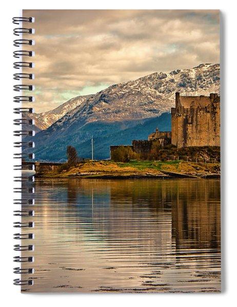 A Reflection At Eilean Donan Castle Spiral Notebook