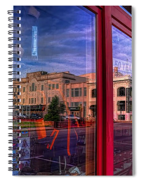 A Reflection Of Wausau's Grand Theater Spiral Notebook