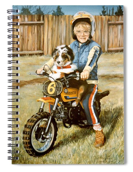 A Ride In The Backyard Spiral Notebook
