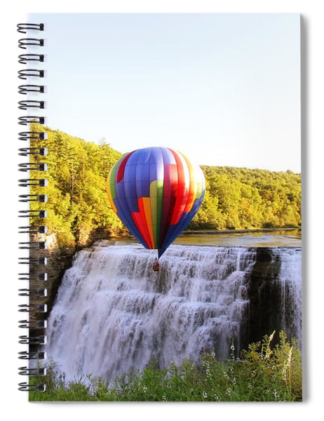 A Ride Over The Falls Spiral Notebook