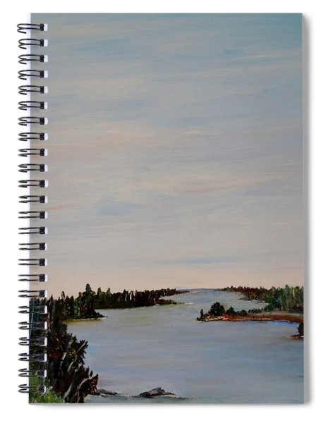 A River Shoreline Spiral Notebook