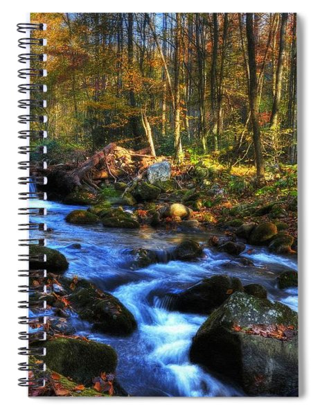Spiral Notebook featuring the photograph A Smoky Mountain Autumn by Mel Steinhauer