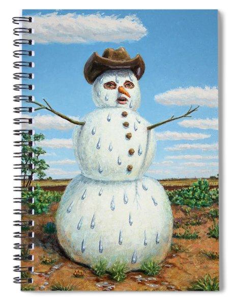 A Snowman In Texas Spiral Notebook