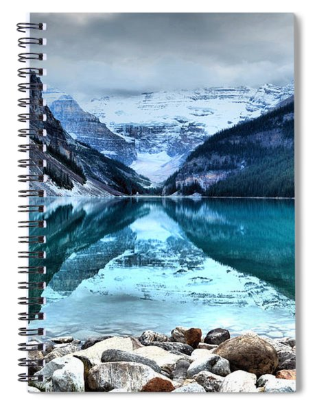 A Still Day At Lake Louise Spiral Notebook