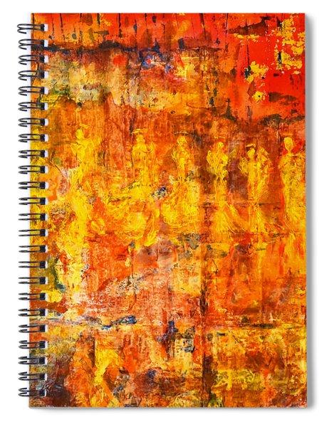 A Sunset Of Angels Spiral Notebook