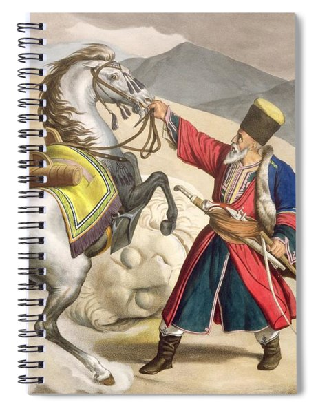 A Tartar With His Horse, Engraved Spiral Notebook