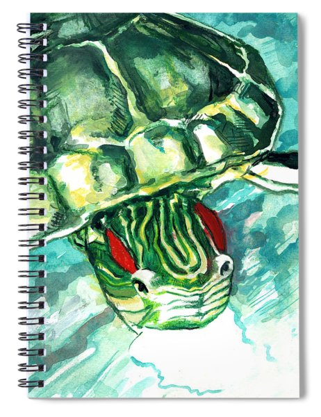 A Turtle Who Likes To Eat Fish Spiral Notebook
