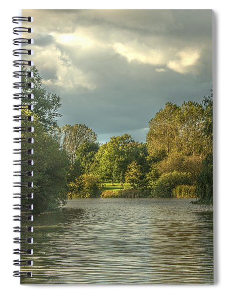 A View Down The Lake Spiral Notebook