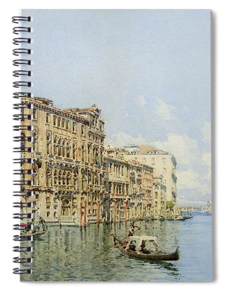 A View Of The Grand Canal With Palazzo Spiral Notebook