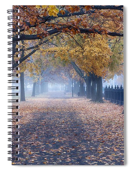A Walk In Salem Fog Spiral Notebook